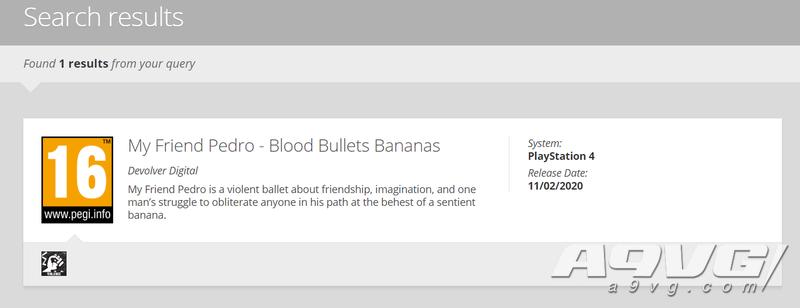《我的朋友佩德罗》将登陆PS4平台 欧洲评级网站透露消息