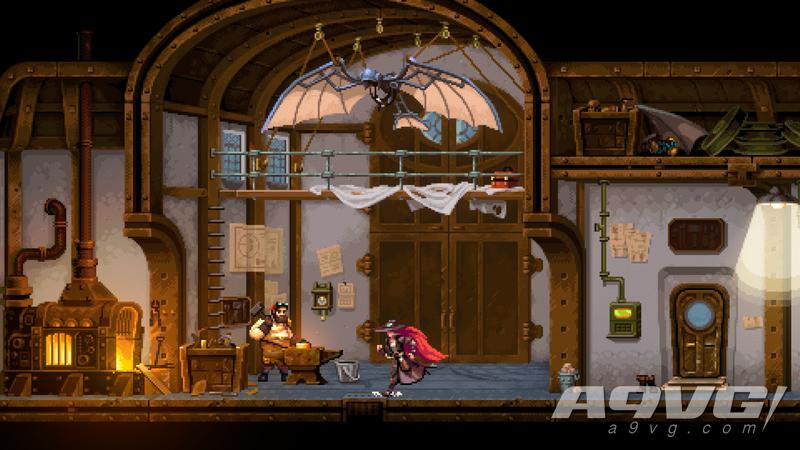 蒸汽朋克動作遊戲《Gestalt: Steam & Cinder》公開部分遊戲截圖