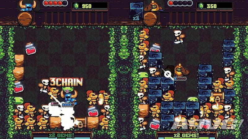 解谜冒险游戏《铲子骑士 口袋地牢》公开 三消与Rougelike结合