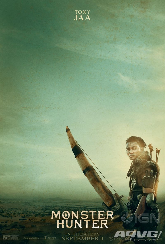 《怪物猎人》真人电影公开两张海报 展示米拉与托尼扮演的猎人