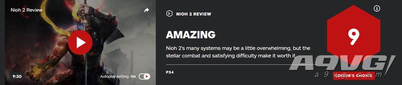 《仁王2》全球媒体评分现已解禁 IGN给出9分 MC平均86分