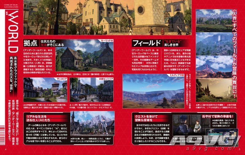 《刀劍神域 彼岸游境》電擊特別宣傳冊電子版 匯總游戲情報