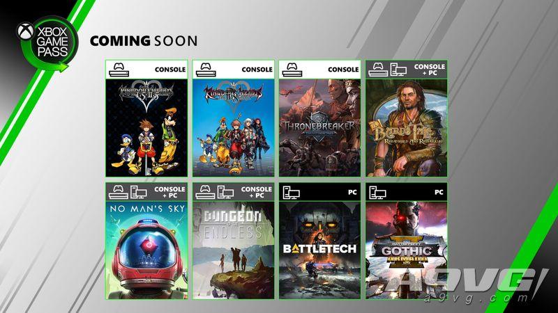 XGP六月新增游戏阵容 王国之心高清合集、无人深空等