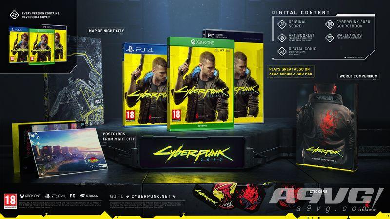 《赛博朋克2077》实体版追加特典公布 将采用双封面设计