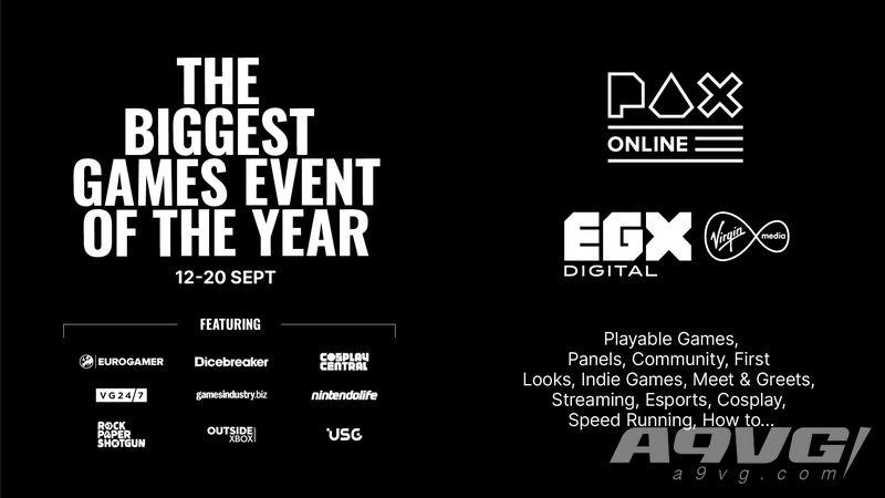 英國遊戲展EGX將與PAX Online聯合舉辦線上遊戲展 將持續九天