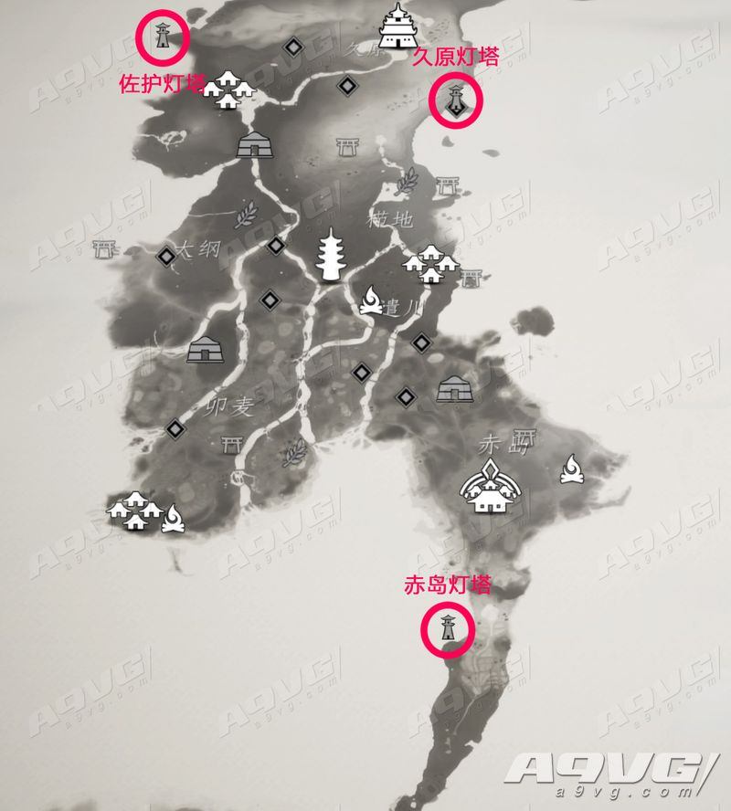 《对马岛之魂》照亮前路奖杯攻略 全灯塔位置攻略