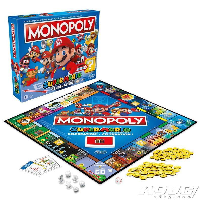 马力欧主题《大富翁》与《叠叠乐》桌游将于8月1日发售