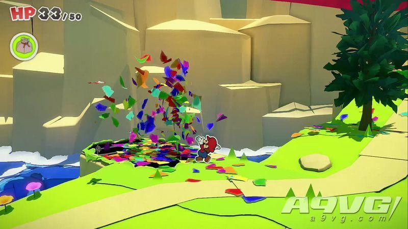 《纸片马力欧 折纸国王》流程图文攻略红色神衹胶带郊游之路
