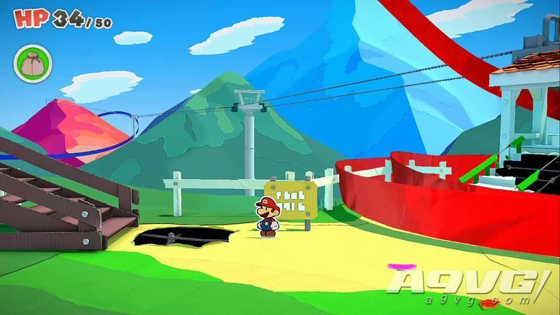 《纸片马力欧 折纸国王》流程图文攻略红色神衹胶带观景山