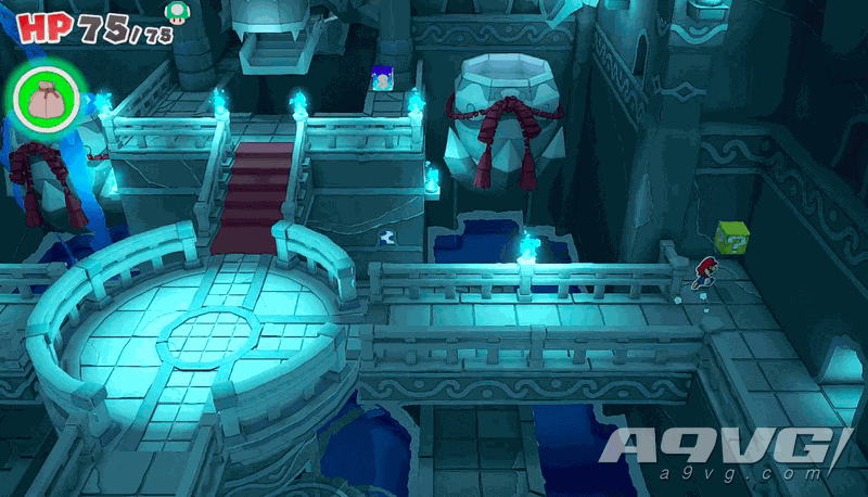 《纸片马力欧 折纸国王》流程图文攻略蓝色神衹胶带水神衹神殿