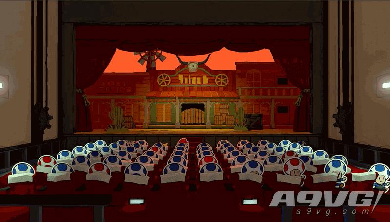 《纸片马力欧 折纸国王》流程图文攻略蓝色神衹胶带江户大戏院