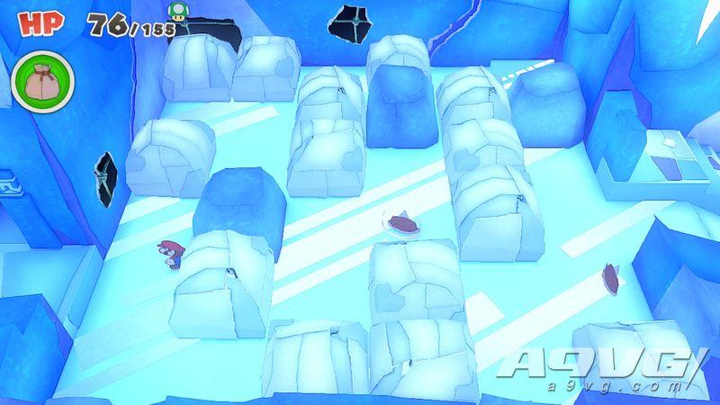《纸片马力欧 折纸国王》流程图文攻略紫色神祇胶带冰神祇山