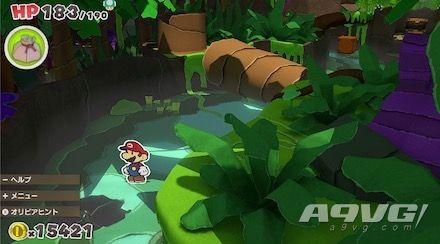 《纸片马力欧 折纸国王》流程图文攻略绿色神祇胶带丛林温泉