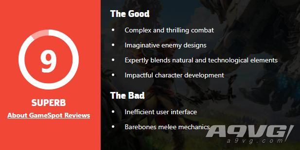 《地平线 零之曙光》PC版媒体评分解禁 GameSpot 9分 MC均分86