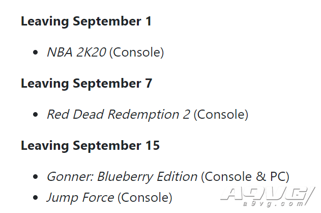 XGP九月新增游戏阵容 命运2资料片、谓何第二/三章等
