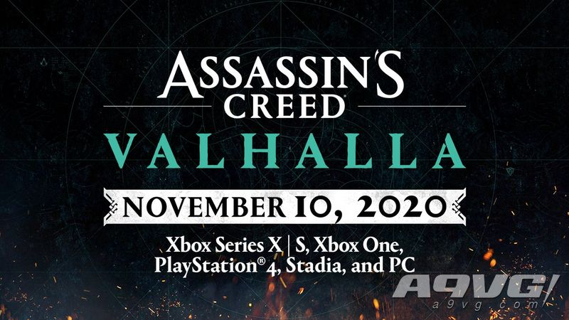 《刺客信条:英灵殿》提前至11月10日发售 为Xbox Series X首发游戏