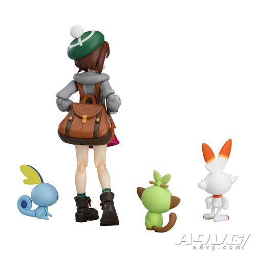 《宝可梦剑/盾》优莉figma实物图公开 配件包含御三家