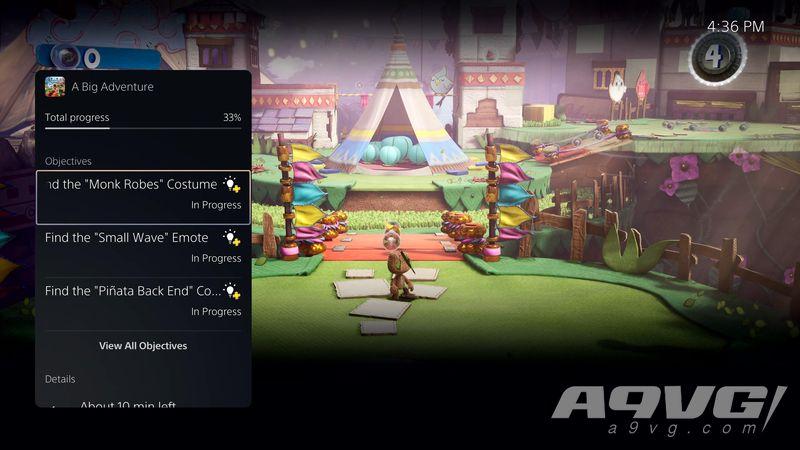 PS5 UI视频(中文字幕) 介绍「行动」「分页卡」等便捷功能