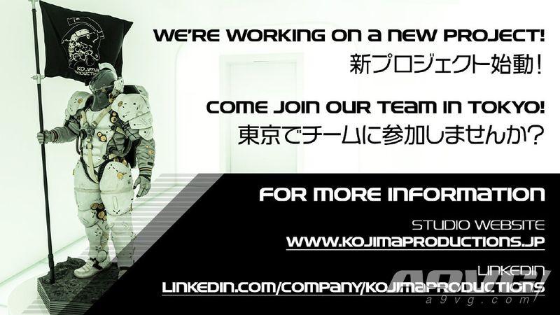 小岛工作室新项目已启动 东京团队开始招聘