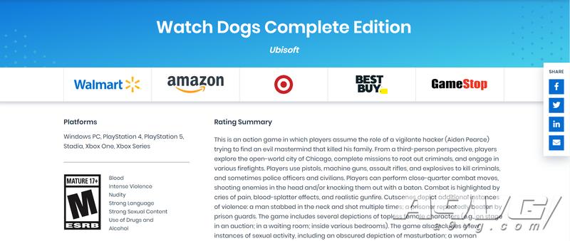 《看门狗》初代或将登陆次世代平台 美国评级网站透露消息