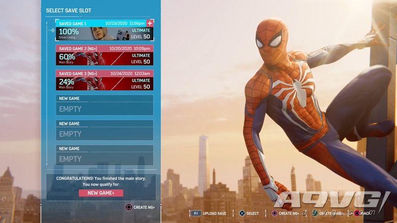 《漫威蜘蛛侠》现已支持存档转移 奖杯进度也将一并继承