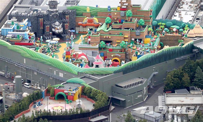 《产经新闻》分享了日本环球影城任天堂主题公园实景照片