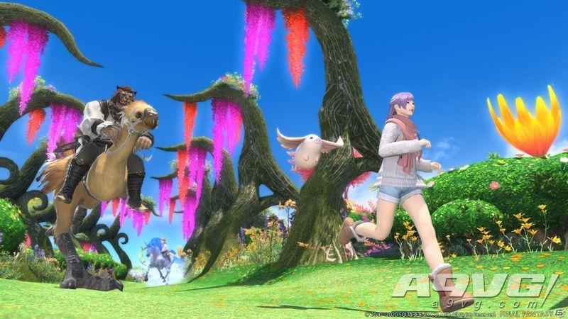 《最终幻想14》5.4版本新截图公开 展示新坐骑新宠物等
