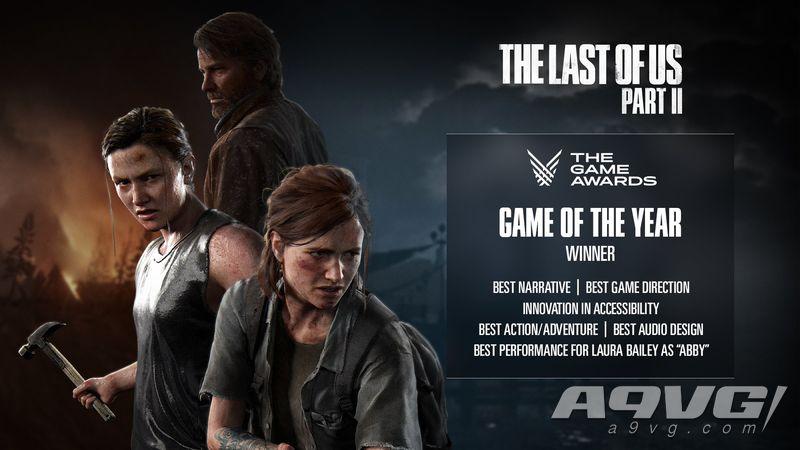 顽皮狗发表TGA贺图 祝贺《最后生还者2》获得年度游戏