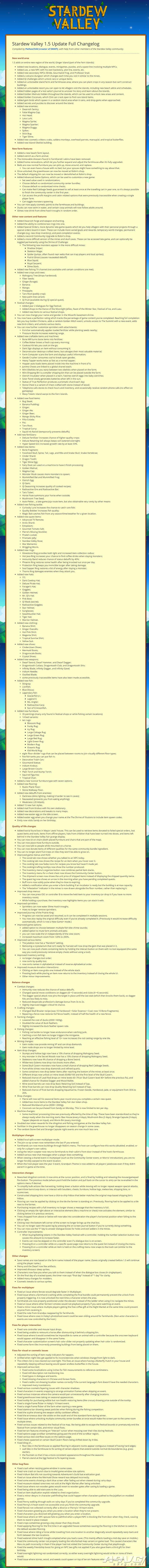 《星露谷物语》1.5版本更新现已在PC平台推出 2021年登陆主机