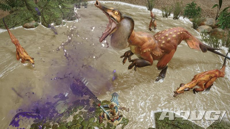 《怪物猎人 崛起》公布水兽与毒狗龙实机演示视频