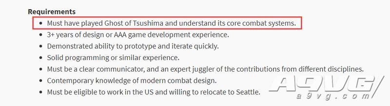 《对马岛之魂》续作或已在制作 新开发人员需了解前作战斗系统