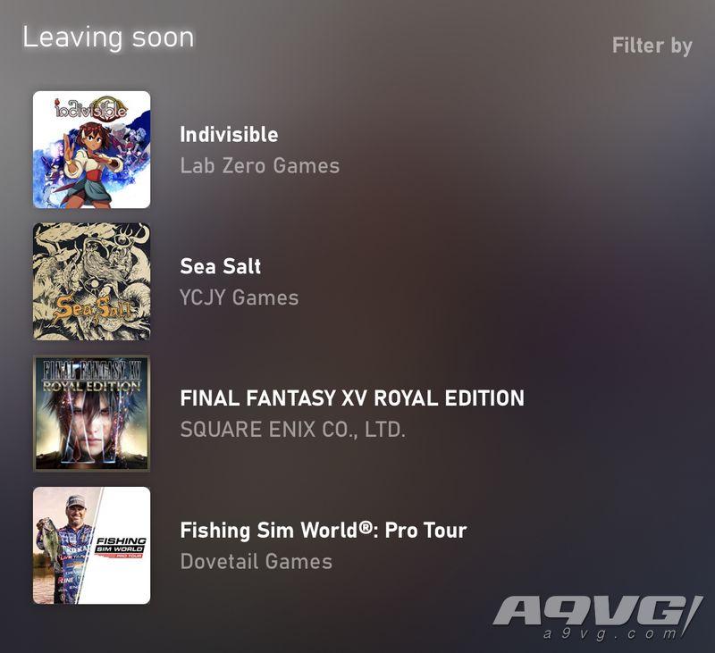 《最终幻想15 皇家版》等多款游戏将于2月1日从XGP游戏库移出