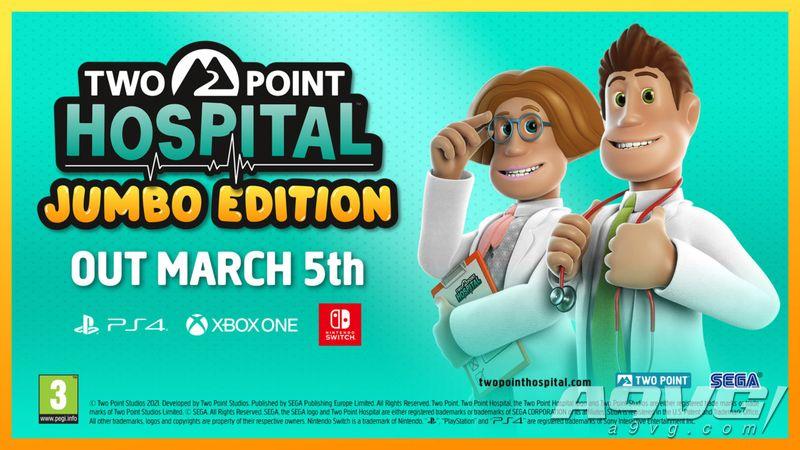 《双点医院 加量版》将于3月5日登陆主机 含现有全部DLC与更新