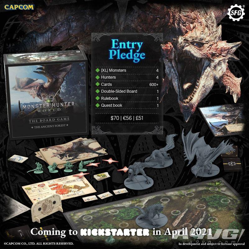 《怪物猎人 世界》桌游4月推出 入门版售价70美元起