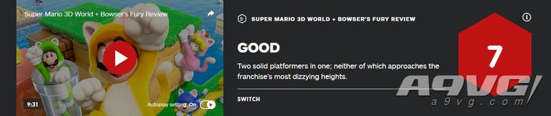 《超级马力欧3D世界 + 狂怒世界》媒体评分解禁 MC均分90