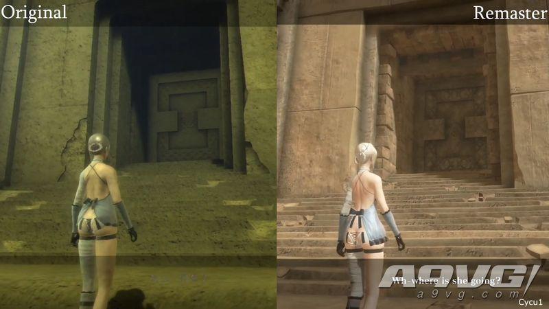 《尼尔 人工生命》原版 vs 升级版画面对比公开 画面进化明显
