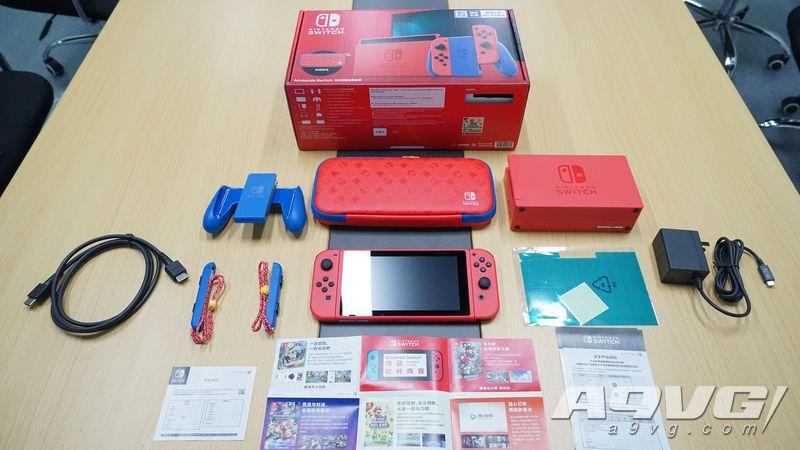 Nintendo Switch马力欧限定版主机套装开箱 红红火火过大年