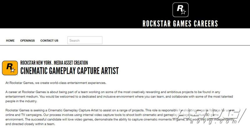 R星正在招募游戏广告制作人员 需使用游戏内画面制作视频