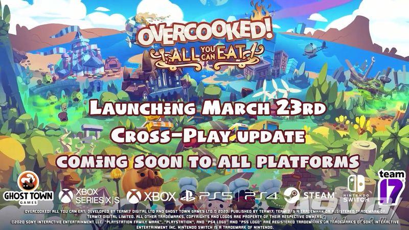 《胡闹厨房 全都好吃》3月23日登陆PS4/X1/NS/PC 跨平台联机很快更新