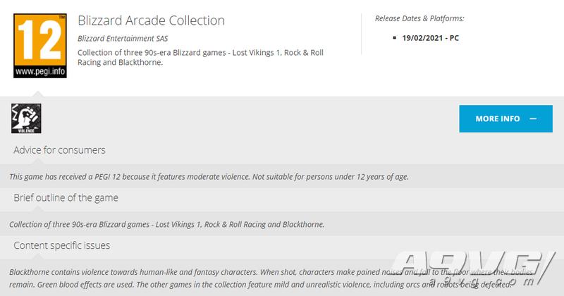 游戏评级网站透露《暴雪街机游戏合集》 包含三款超任平台旧作