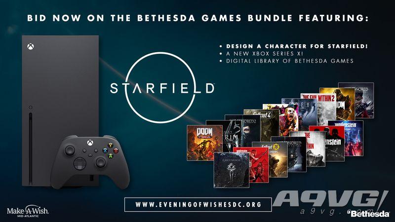 Bethesda拍卖《Starfield》角色制作机会 为慈善组织筹款