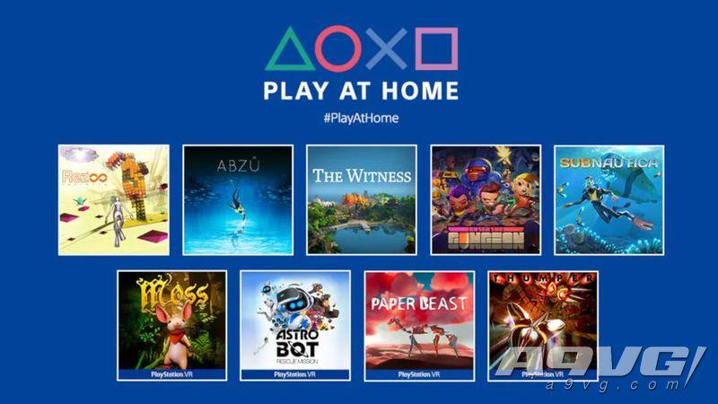 """""""Play At Home""""活动再添10款免费游戏 含地平线零之曙光等"""