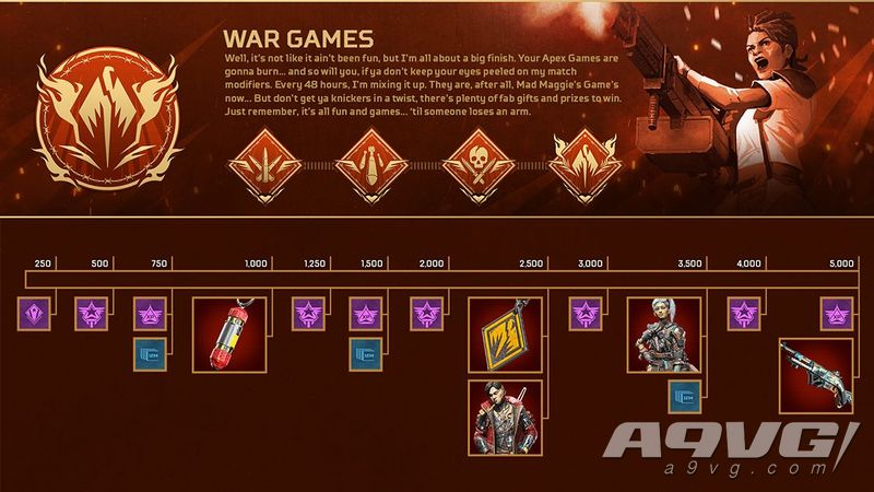 "《Apex英雄》""战争游戏""收集活动隆重推出前所未见的游戏模式修改器"
