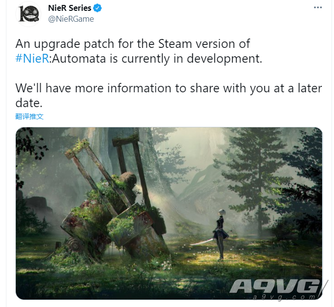 Steam版《尼尔 自动人形》新补丁开发中 进一步优化游戏稳定性