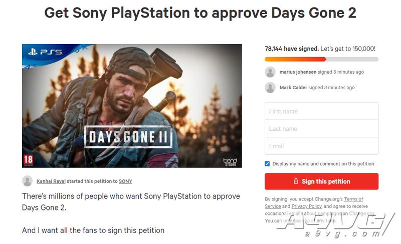 国外玩家请愿索尼通过《往日不再2》项目 已有接近8万人签名