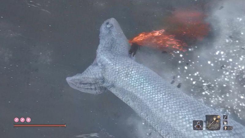 《只狼 影逝二度》白蛇神忍杀视频攻略 白蛇神位置地点