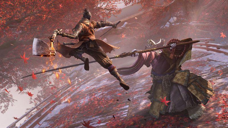 《只狼 影逝二度》大神玩家无道具无伤击杀最终Boss和破戒僧