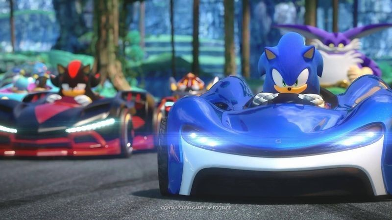 《组队索尼克赛车》最新实机演示释出 三大场景的混乱竞速