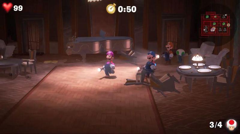 《路易吉洋馆3》多人合作实机演示 和其他玩家一起大闹鬼屋