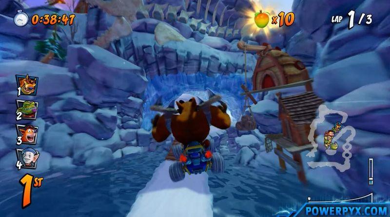 《古惑狼賽車》雪地地圖捷徑位置攻略 古惑狼雪地地圖近路在哪兒